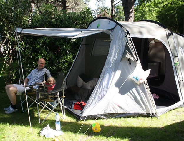 Camping in der Normandie