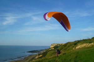 Paragliding in der Normandie