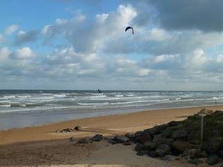 Kitesurfen Ste. Laurent sur Mer in der Normandie